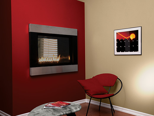 Loft fireplaces direct vent american hearth Loft fireplace